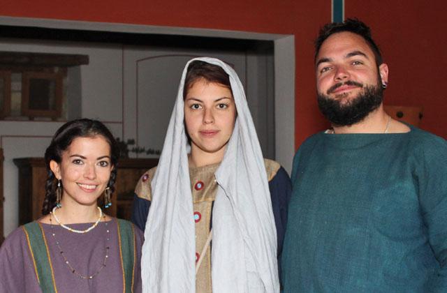 Drei Römer beim Herbstfest in Carnuntum