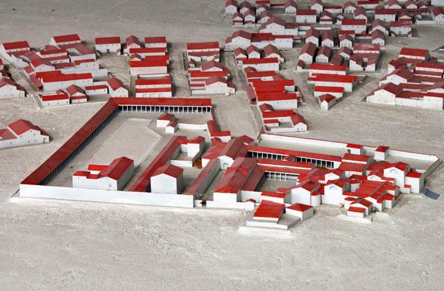 Modell der Römersiedlung Carnuntum