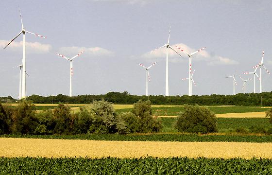 Windpark: Winkraftanlage im Burgenland