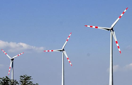 Windräder - Nahaufnahme