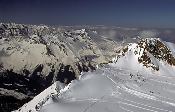 Kitzsteinhorn: Bergpanorama mit Blick auf den Nationalpark Hohe Tauern
