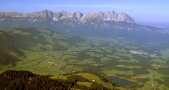 Tirol /Kitzbühel - Panaoramablick auf den Wilden Kaiser