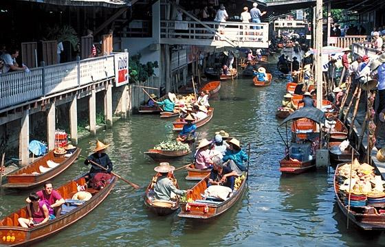 Bangkok / Umgebung: Floating Market