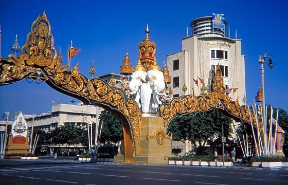 Prunkstrasse in Bangkok