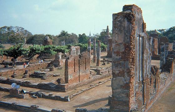 Ayutthaya - Alte Stadt - Tempelruinen - Archäologische Fundstelle