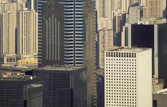 Hongkong - Skyline mir Wolkenkratzern
