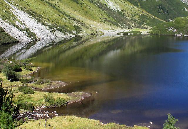 Gletscherwelt Weißsee - Rflexionen im Grünsee