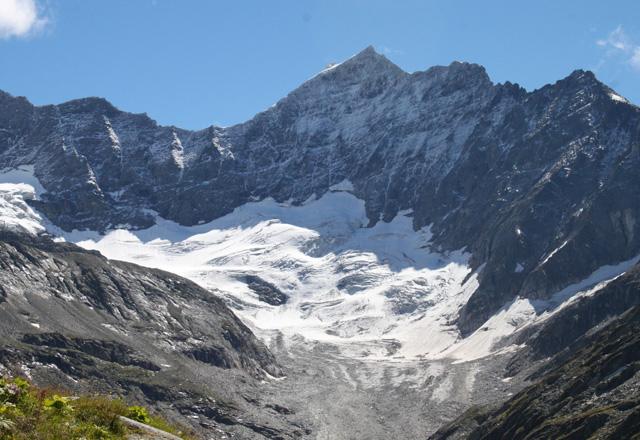 Weißsee: Blick von der Rudolfhütte Richtung Medelzkopf