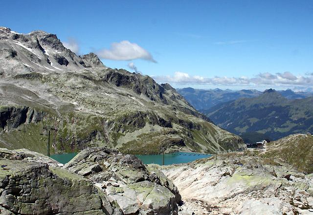 Weißsee mit Berghotel Rudolfshütte