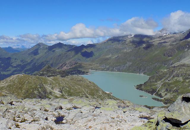 Tauernmoos-Sperre / Weißsee Gletscherwelt mit Bergpanorama