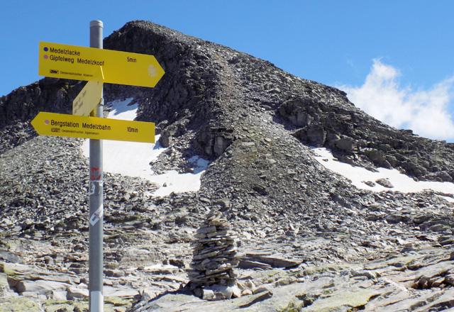 Weißsee Gletscherwelt - Am Medelzkopf, Wegweiser