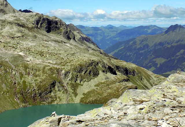Weißsee, vom Medelzkopf aus, mit Bergpanorama