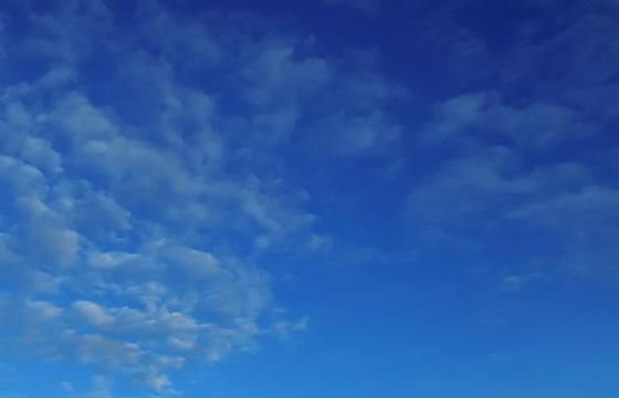 Zarte Wölkchen - Wolkenbildung