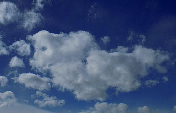 Wolkenformation kündigt Wetterwechsel an