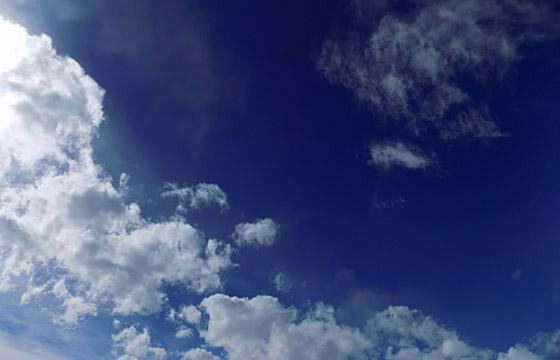 Wolkengebilde als Vorbote einer Wetterfront