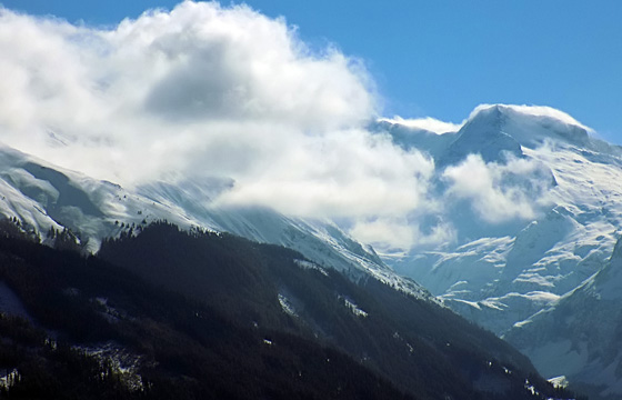 Wolkenformation über den Hohen Tauern