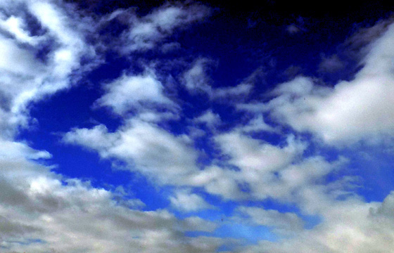 Malerische Wolkenformation
